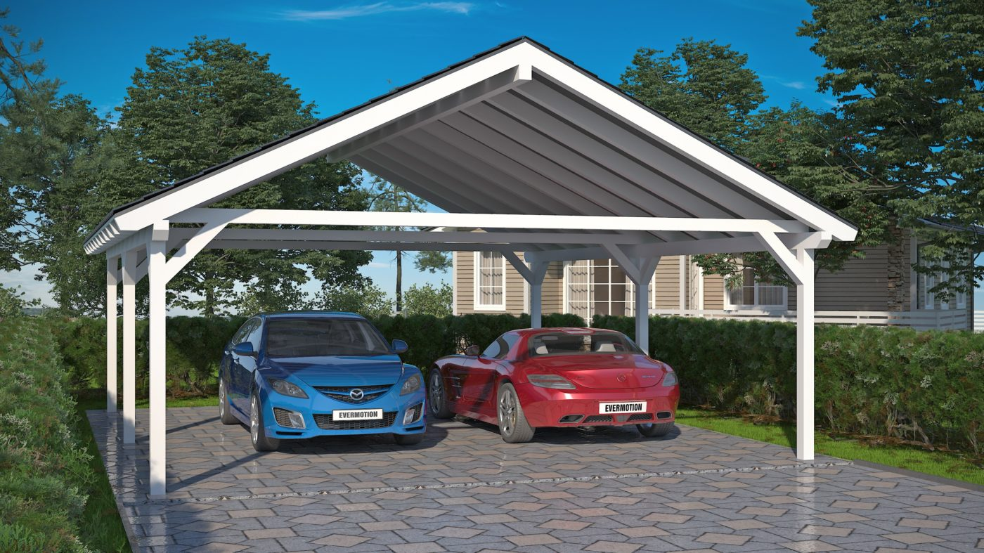 two car carports nordic wooden products. Black Bedroom Furniture Sets. Home Design Ideas